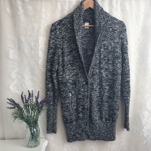 J Crew Wool Cardigan Sweater Gray Long L